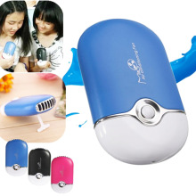 Popular Portable Rechargeable Handheld Humidifier Fan USB Office Cooling Mist Air Conditioning Moisturizing Fan Ventilateur