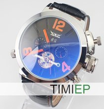 Luxury!!!New Men's Skeleton Tourbillon Automatic Mechanical Classic Sports Wrist TIMI Watch(China)