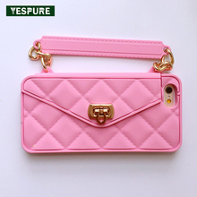 YESPURE Fancy Luxury Fashion Soft Silicone Cell Phone Accessories Women Handbag Purse Phone Case Cover for Iphone 6plus 6splus(China)