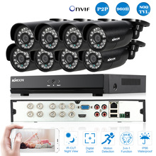 KKmoon 8CH 960H DVR CCTV Kit 800TVL Security Camera System 8pcs IR Camera Outdoor Security Video Surveillance Kit Euro Stock(China)