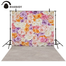 Allenjoy photo background Exquisite beautiful flowers colorful wedding babyshower purple pink white photography photo backdrop