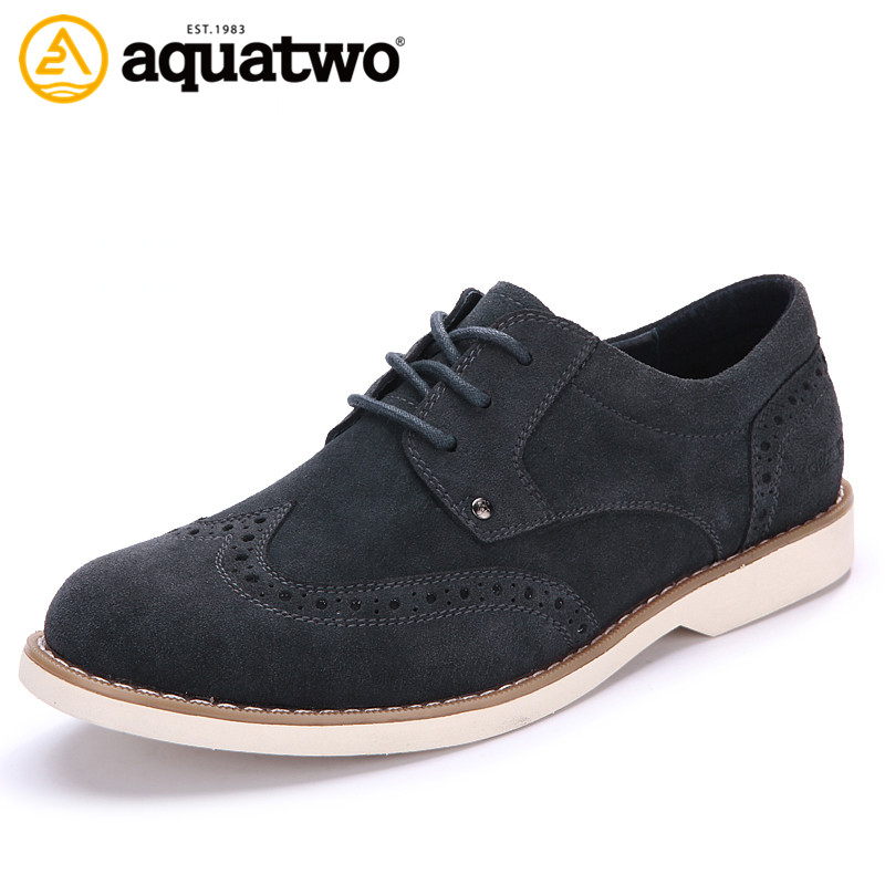Hot Sale 2016 New AQUA TWO Suede Leather Shoes Men Brogue Styel Oxford Mens Shoes US5.5-10.5# Zapatos Hombre Casual Shoes Brand<br><br>Aliexpress