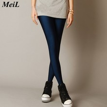 MeiL Multiple Color Neon Leggings for Woman Adventure Time for Paint Legging Fashion Sexy High Elatisc Leggins for Woman(China)