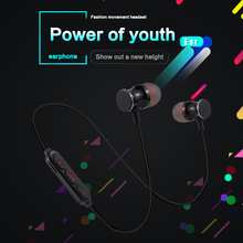 Buy KAPCICE Metal Sports Bluetooth Headphone SweatProof Earphone Magnetic Earpiece Stereo Wireless Headset Mobile Phone for $7.65 in AliExpress store