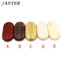 JASTER New Creative Wooden usb pen drive 8GB 16gb 32gb 64gb natural wood Usb Flash Drive Memory Stick photography wedding Gifts