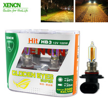 XENCN HB3 9005 12V 100W 2300K Golden Eyes Super Yellow Light Car Bulbs Replace Upgrade Headlight Halogen Lamp for BMW