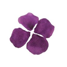 600Pcs Dark Purple Silk Rose Petals for Wedding Flowers(China)