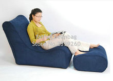 Cover only  No Filler - Navy blue Modern new design high quality bean bag chair/modern seat sofa stools/sofa polyester stool
