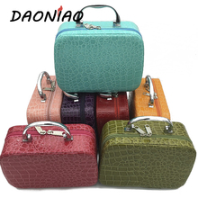 Fashion Luxury handBox Cosmetic Crossbody Boxs Big Capacity Diamond Lattice Makeup Box Storage Bags  #b0001