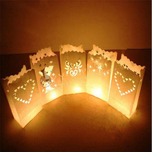Hot Dropshipping 2017 10Pcs Light Holder Paper Lantern Candle Bag For Christmas Home Decoration B788