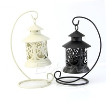 Hogar Paradise Iron Moroccan Style Candlestick Candleholder Candle Stand Light Holder Lantern(China)