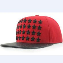 High quality  Canvas Embroidery Five-pointed star cap, baseball red hat