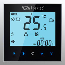 BECA 0-10V Modulating Fan Coil Controller Touch Screen Weekly Programmable Two pipe Central Air Conditioning Room Thermostat(China)