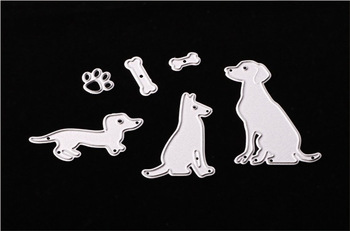 Three dogs Metal Cutting Dies Stencil DIY Scrapbooking Decorative Craft Photo Album Embossing Folder Paper Crad