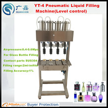 YT-4 Pneumatic  Liquid level control filling machine for perfume filling ,vacuum level control filling machine for glass bottles