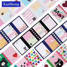 1 PCS Cute Cartoon Animal Cat Bear Memo Pad Sticky Post it Note Kawaii Sticker for kids Korean Stationery(China)