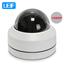 LEF 1080P HD 2.5 inch Mini Network PTZ Dome Camera 3X Zoom 2.8mm-8mm Motorized Pan Tilt CCTV Security Camera IP66 Waterproof