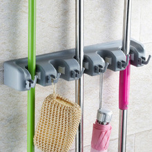 Wall Mounted Storage Mop Holder Brush Broom Hanger Storage Rack Kitchen Organizer with Mounted Accessory Hanging Kitchen Tool