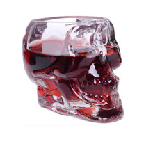 2017 New Crystal Skull Head Vodka Whiskey Shot Glass Cup Drinking Ware Home Bar Cup wine Mug for Pirates of the glass(China)