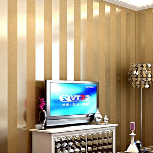 hot sales gold and beige striped nature wooden designs wallpaper luxury living room tv background papel de parede<br>
