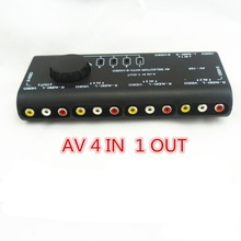 1PCS Hot Sell Practical AV Audio Video Signal Switcher 4 Input 1 Output Switch SPLITTER