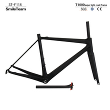 T1000 Super Light Road Full Carbon Bicycle Frame , High Quality Chinese Carbon Bike Frameset with Quickly Free Shipping