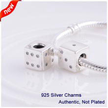 L355 2014 New Sports Dice Charms Original 100% Authentic 925 Sterling Silver Thread Beads fit for Pandora bracelets Free shpping