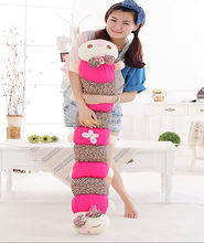 Fancytrader 2014 New Arrival 55'' / 140cm Lovely Jumbo Plush Caterpillar Toy, Gift for kids and Girl Free Shipping FT50045