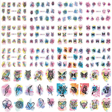 2017 NEW 12 Designs/Set Hot Fashion Animal and Flower Mixed Water Transfer Stickers Nail Beauty Decoration Tips BEBN409-420N