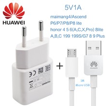HUAWEI 100% Original usb charger 5v 1a Micro USB Data Cable 5v adpater Travel Adapter Adaptive honor 5C P6 P7 P8 G7 G8 G9 Plus(China)