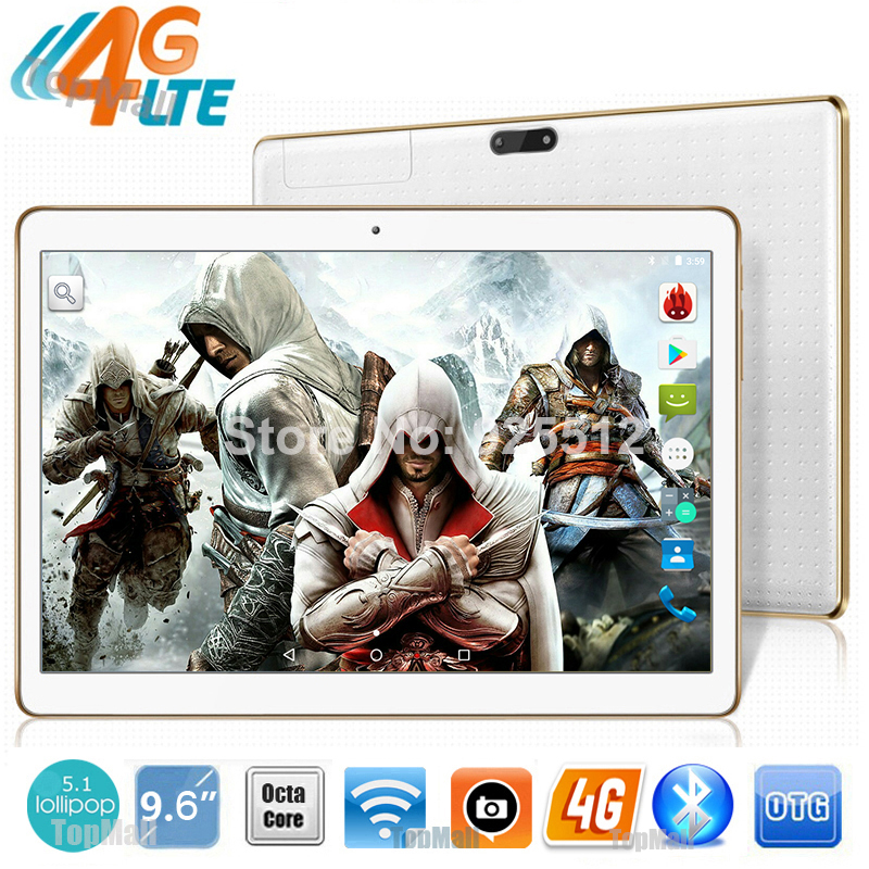 Hot New 9.6 inch 4G Lte Tablet Android 5.1 Octa Core 4G RAM 32GB ROM Dual SIM Cards 5.0M Camera Bluetooth GPS Tablet 10 + Gifts(China (Mainland))