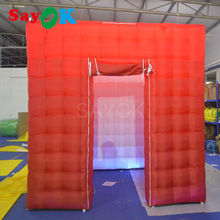 2017 Orange Inflatable photo Booth for Advertising,portable photo booth with 1 door