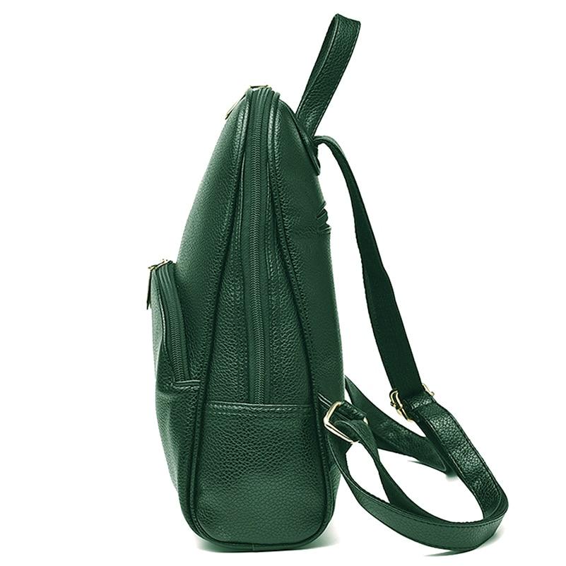 Nevenka Women Backpack Leather Backpacks Softback Bags Brand Name Bag Preppy Style Bag Casual Backpacks Teenagers Backpack Sac07