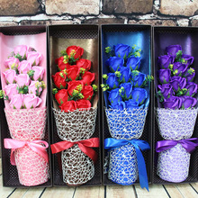 11 flower soap flower bouquet the Qixi Festival Valentine's Day gift to send his girlfriend wife Valentine's gift box