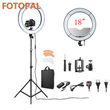 Fotopal China Electronics Market Orange White Filter LED Ring Video Light Annular Lamp Camera Selfie Light With Tripod Mirror(China)