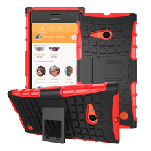 Top Quality Rugged Kickstand Armor Case For Nokia Lumia 735/730 Hard Shock Proof Case With Stand Phone Accessory Funda