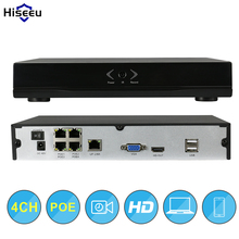 Hiseeu Network DVR Video Recorder Surveillance 4CH POE NVR H.264 P2P Onvif 2.0 for HD 1080P IP Camera WIfi 3G DVR Wholesales