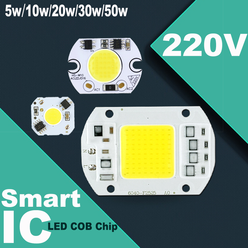 5W 10W 20W 30W 50W 220V LED Lamp Chip Cold White Warm White led COB Smart IC Driver Fit For DIY LED Spotlight Floodlight<br><br>Aliexpress