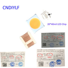 New Hight CRI>90 LED 3V 150ma 2600 To 4700K 0.5W LED Chip 2835 100PCS 20*40mil LED Chip Inside Fast Delivery Via Air Mail(China)