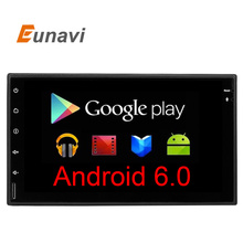 "Eunavi Universal 7"" Android 6.0 Car DVD Player Double Din 1024*600 Auto radio GPS Navigation BT PC Quad core Radio Stereo player"