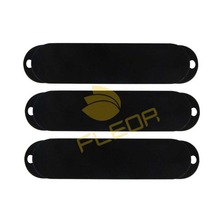 NEW 3pcs Closed Plastic Guitar Single Coil Pickup Covers No Holes for FD ST Style Guitar ,Black(China)