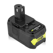 For Ryobi Brand New P108 RB18L40 RYOBI ONE+ Lithium Ion High Capacity 18V 4000mAh Rechargeable Battery Pack Power Tool Battery