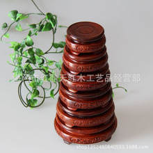 Red sandalwood wood crafts fret Ssangyong set seven small small stones jade pedestal base