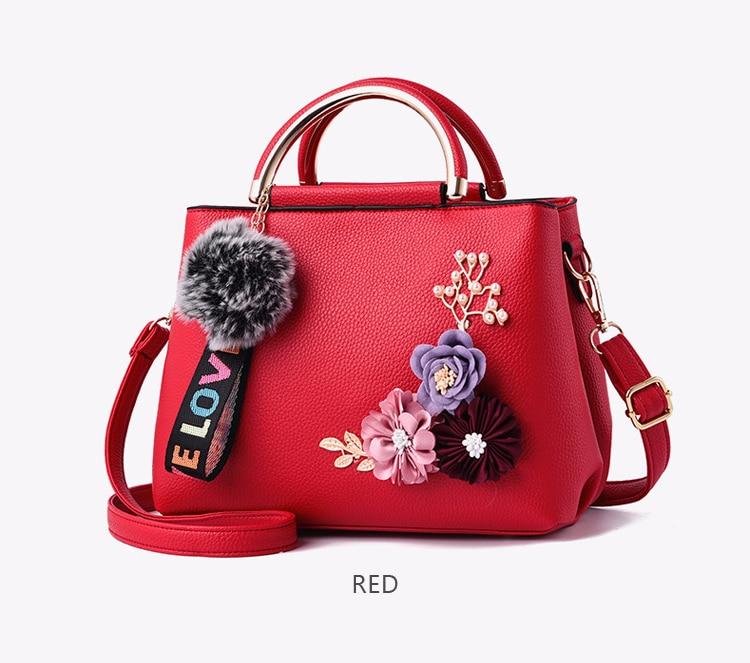 ETALOO Flowers Shell Ladies Handbags | Tote Leather Bag 13