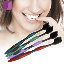 4 Pcs/Lot Health Oral Hygiene Double Ultra Soft Toothbrush Bamboo Charcoal Nano Brush Clean Care Oral Health Charcoal Toothbrush