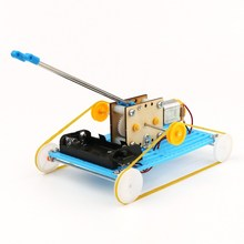 DIY Educational Electric Robot Tank Scientific Invention Toys Good Gifts for Kids(China)