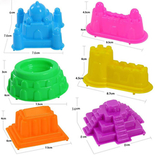6 Pcs New Children Mini Ancient Building Sand Castle Mold Tools Beach Toys Baby Funny Game Model Building Kits KidsGifts