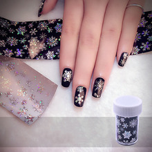 New Fashion Christmas Nail Sticker Snowflake Holographic Nail Foils Nail Art Transfer Sticker Paper