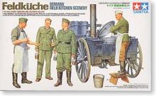 Tamiya assembled 35247 German soldiers who model 1/35 field kitchen car soldier who cooks food workers