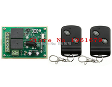 DC 12V 10 A 2 Channel RF Wireless Remote Control 1 piece Receiver & 2 piece Transmitter learning code simple operation(China)